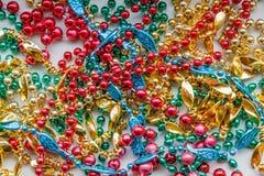 Colorful Mardi Gras Beads Royalty Free Stock Photos
