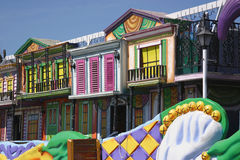 Colorful Mardi Gras Float Details royalty free stock photos