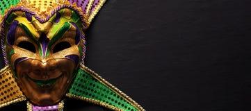 Colorful Mardi Gras mask background. Colorful Mardi Gras jester mask background royalty free stock image