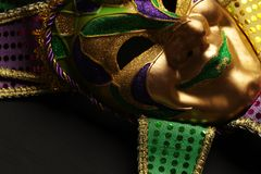 Colorful Mardi Gras mask background. Colorful Mardi Gras jester mask background royalty free stock images