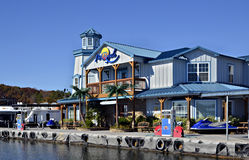 Colorful Marina and Restaurant Stock Images
