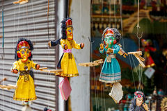 Colorful marionette puppets Stock Image