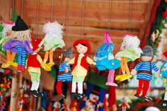 Colorful marionettes Royalty Free Stock Photos