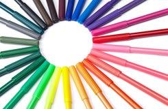 Colorful Marker Circle Royalty Free Stock Photo
