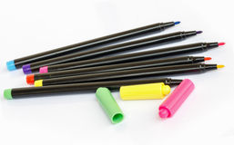 Free Colorful Marker Pens Royalty Free Stock Image - 39574246