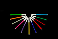 Colorful marker pens Stock Photos