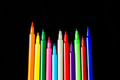 Colorful marker pens Stock Image