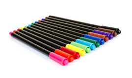 Colorful marker pens Stock Images