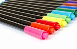 Colorful marker pens Stock Photography