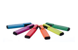 Colorful markers Stock Image