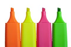 Colorful markers. Royalty Free Stock Image