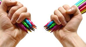Colorful markers Royalty Free Stock Image