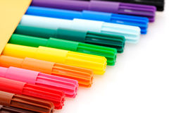 Colorful markers Royalty Free Stock Photography