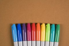 Colorful markers. Stock Images