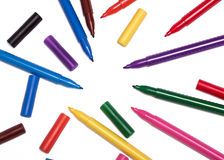 Free Colorful Markers Royalty Free Stock Photo - 51621495