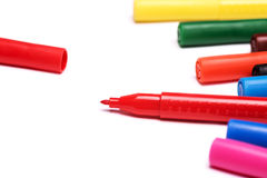 Colorful markers Stock Images
