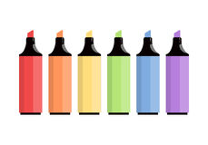 Colorful markers isolated Royalty Free Stock Photography