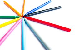 Colorful markers pens Stock Photo