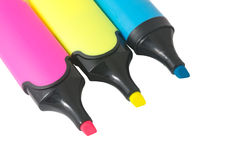 Colorful markers pens Royalty Free Stock Photos