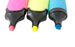 Colorful markers pens Royalty Free Stock Photo