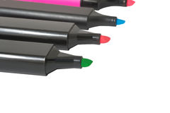 Colorful markers pens Royalty Free Stock Image