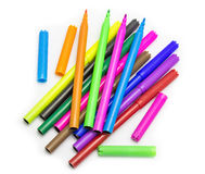 Colorful markers pens Multicolored Felt Pens Stock Photography