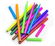 Colorful markers pens Multicolored Felt Pens Stock Photos