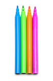 Colorful markers pens Multicolored Felt Pens Royalty Free Stock Photography
