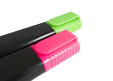 Colorful markers pens Stock Photos