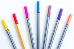 Colorful markers pens Stock Image