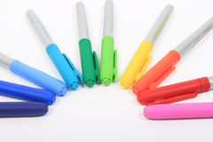 Colorful markers in rainbow colors Royalty Free Stock Photo