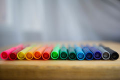Colorful markers,. Colorful markers. Realistic markers set for design royalty free stock image