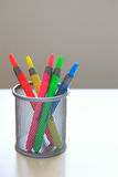 Colorful markers - vertical Stock Image