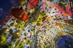 Colorful market hall, rotterdam Stock Photography