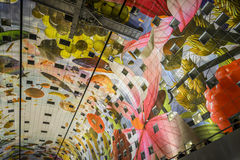 Colorful market hall, rotterdam Stock Photo