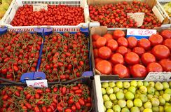 Colorful market stall Stock Photo