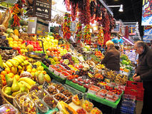 Colorful market stall Stock Images
