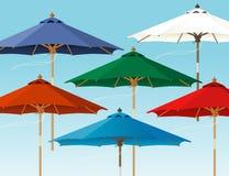 Colorful Market Umbrellas Stock Photos