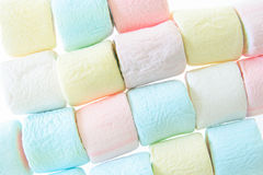 Colorful marshmallow background Stock Images