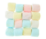 Colorful marshmallow isolated Royalty Free Stock Images