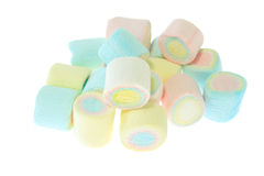 Colorful marshmallow isolated Royalty Free Stock Photo