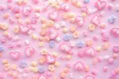 Colorful marshmallow.Party and celebration.decorative background texture.Flat lay stock photos