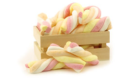 Colorful marshmallow twisted sticks candy Royalty Free Stock Photography