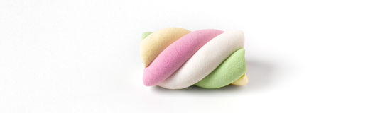 Colorful marshmallow on white background Royalty Free Stock Image