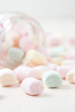 Colorful marshmallows Stock Photos