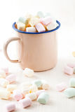 Colorful marshmallows Stock Images