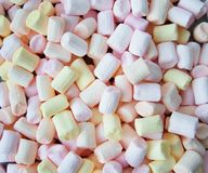 Colorful marshmallows as background, macro. Fluffy marshmallows texture close up stock images