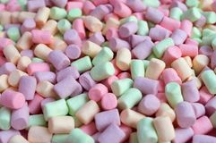 Colorful marshmallows background Royalty Free Stock Photography
