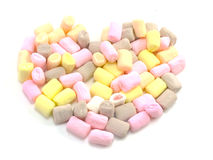 Colorful marshmallows candy Stock Image