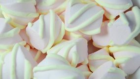 Colorful marshmallows candy (rotating) Royalty Free Stock Photo
